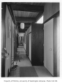 Baker residence interior showing hallway, Seattle, 1955