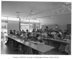 Crestview Elementary School interior showing classroom, Seattle, 1960