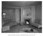 Nelson residence interior showing living room, Seattle, n.d.