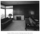 Weisfield residence interior showing living room, Seattle, 1961