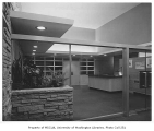 Seattle Park Department headquarters interior showing entry hall, Seattle, 1949