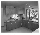 Weisfield residence interior showing kitchen, Seattle, 1961