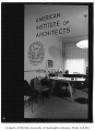 American Institute of Architects office through door, Seattle, 1954