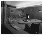 Lundberg residence interior showing sitting room and dining area, n.d.