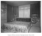 Moffett residence interior showing bedroom, Seattle, 1954