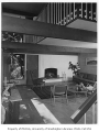 Miller residence interior showing living room, Seattle, 1958