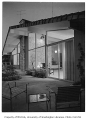 Burke residence exterior showing patio, Seattle, 1956