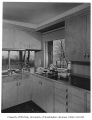 Overturf residence interior showing kitchen, Seattle, 1954