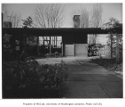 Overturf residence exterior showing entrance, Seattle, 1954