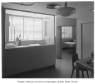King County Central Blood Bank interior showing treatment rooms, Seattle, 1951