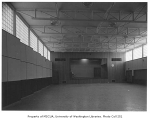 Clyde Hill Elementary School interior showing gymnasium, Bellevue, 1953