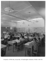 Ashwood Elementary School interior showing classroom, Bellevue, 1957