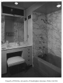 Overturf residence interior showing bathroom, Seattle, 1954
