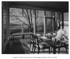 Overturf residence interior showing dining room, Seattle, 1954