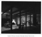 Lehmann residence interior showing dining area and living room, Seattle, 1951