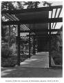 McRae residence exterior showing entrance, Bellevue, 1958