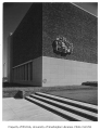 University of Washington Health Sciences Building exterior showing architectural ornament,...