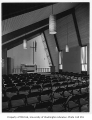 Christ the King Church interior showing chapel, Bellevue, 1956