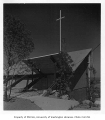 Christ the King Church exterior showing entrance, Bellevue, 1956