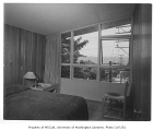 Mayer residence interior showing bedroom, Seattle, 1950