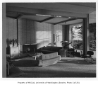 Lehmann residence interior showing living room, Seattle, 1951