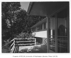 Coulon residence exterior showing deck, Seattle, 1946