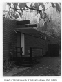 Baker residence exterior showing entrance, Seattle, 1955