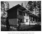 Dodds residence exterior from rear, Seattle, 1951