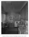 Edes residence interior showing kitchen, Hunts Point, ca. 1955.