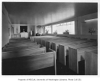 Goodwill Industries interior showing chapel, Seattle, 1949