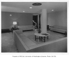 Mason Clinic interior showing waiting room, Seattle, 1954