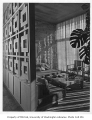 Rubinstein residence interior showing sitting room, Seattle, 1950