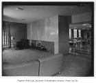 Ida Culver House interior showing sitting room and dining area, Seattle, n.d.