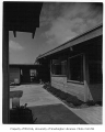 Isaacs residence exterior showing patio, Bellevue, 1953