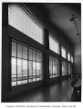 Catherine Blaine Junior High interior showing cafeteria windows, Seattle, n.d.