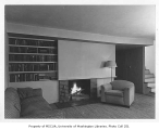 Gunby residence interior showing living room, Seattle, 1944