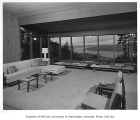 Hayter residence interior showing living room, Issaquah, 1956