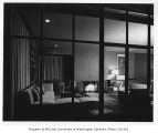 Rubinstein residence interior showing living room, Seattle, 1950