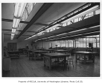 Catherine Blaine Junior High interior showing wood shop, Seattle, n.d.