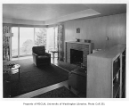 Armbruster residence interior showing living room, Seattle, 1946