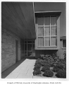 Rubinstein residence exterior showing entrance, Seattle, 1950