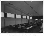 Catherine Blaine Junior High interior showing cafeteria, Seattle, n.d.
