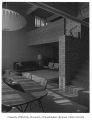 Newell residence interior showing living and dining areas, Seattle, 1954