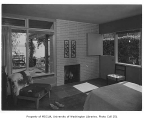 Brown residence interior showing bedroom, Seattle, 1952