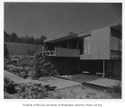Dowell residence exterior from rear, Seattle, 1956