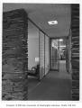 Blakeley Clinic interior showing hallway, Seattle, 1957