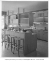Buckley residence interior showing kitchen, Medina, 1962