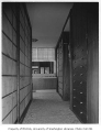 Dowell residence interior showing hallway, Seattle, 1956