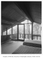 Ballard residence interior showing bedroom, Mercer Island, 1961