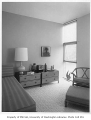 Buckley residence interior showing bedroom, Medina, 1962
